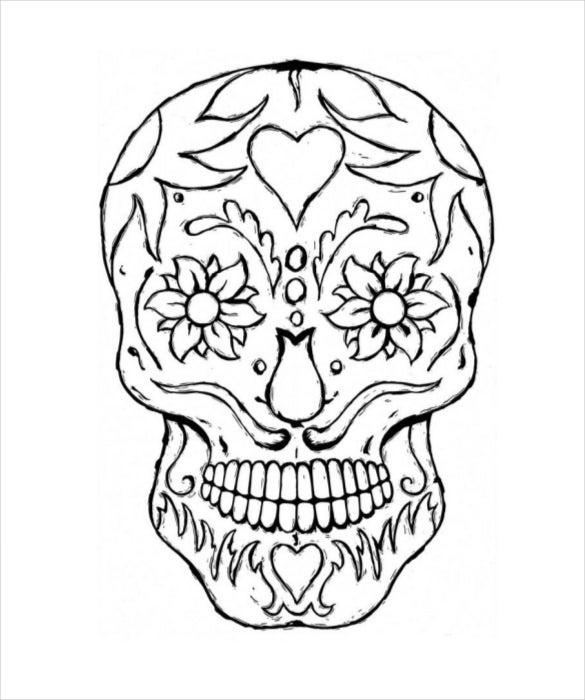 Skull Drawing Template – 11+ Free PDF Documents Download!  Free  Regarding Blank Sugar Skull Template