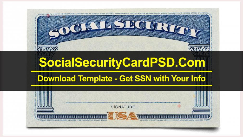 Social Security Card PSD Template Collection 11 With Regard To Social Security Card Template Pdf For Social Security Card Template Pdf