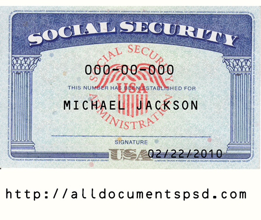 Social Security Card Template PSD  Only $11 With Regard To Social Security Card Template Pdf Inside Social Security Card Template Pdf