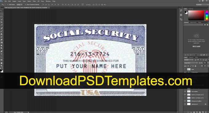 Social Security Card Template [SSN Editable PSD Software  Intended For Social Security Card Template Pdf Regarding Social Security Card Template Pdf