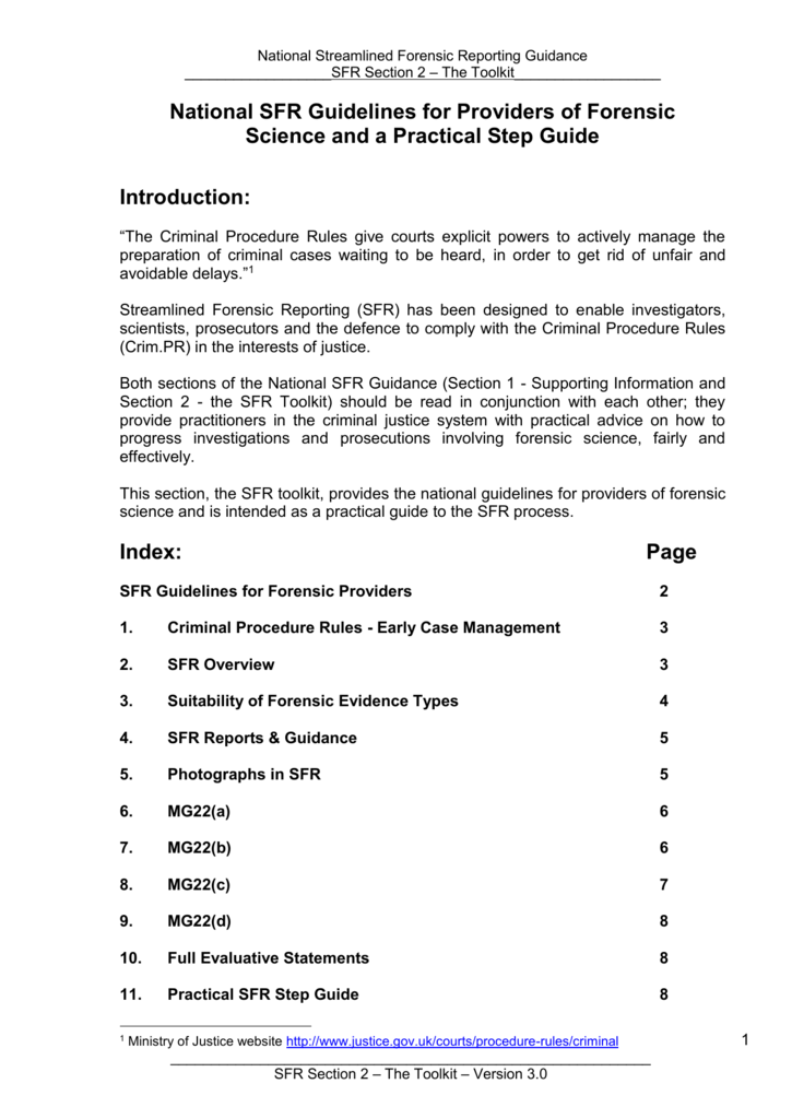 Streamlined Forensic Reporting - SFR 11 The toolkit With Regard To Forensic Report Template Inside Forensic Report Template