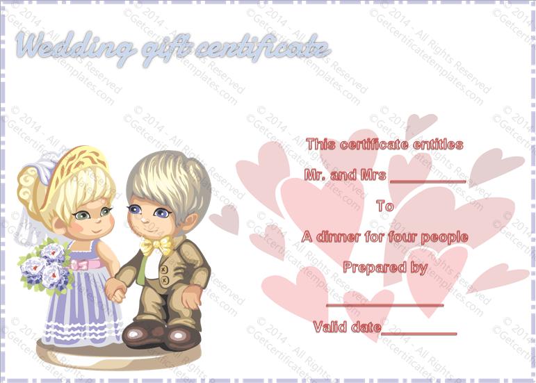 Sweet Love Wedding Gift Certificate Template With Love Certificate Templates In Love Certificate Templates