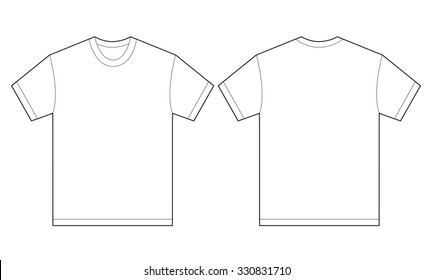 Tee Shirt Outline Images, Stock Photos & Vectors  Shutterstock Throughout Blank T Shirt Outline Template With Blank T Shirt Outline Template