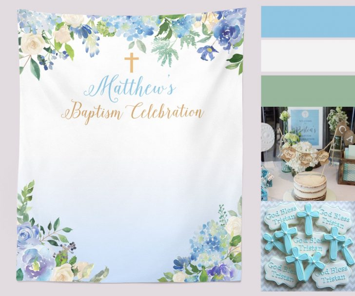 template : Baptism Backdrop, First Communion, Baby Boy Baptism  In Christening Banner Template Free Intended For Christening Banner Template Free