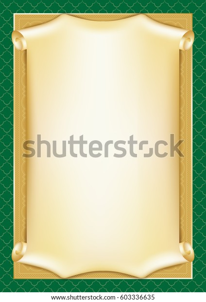 Template Diploma Certificate Card Scroll Decorative Stock Vector  With Certificate Scroll Template Intended For Certificate Scroll Template