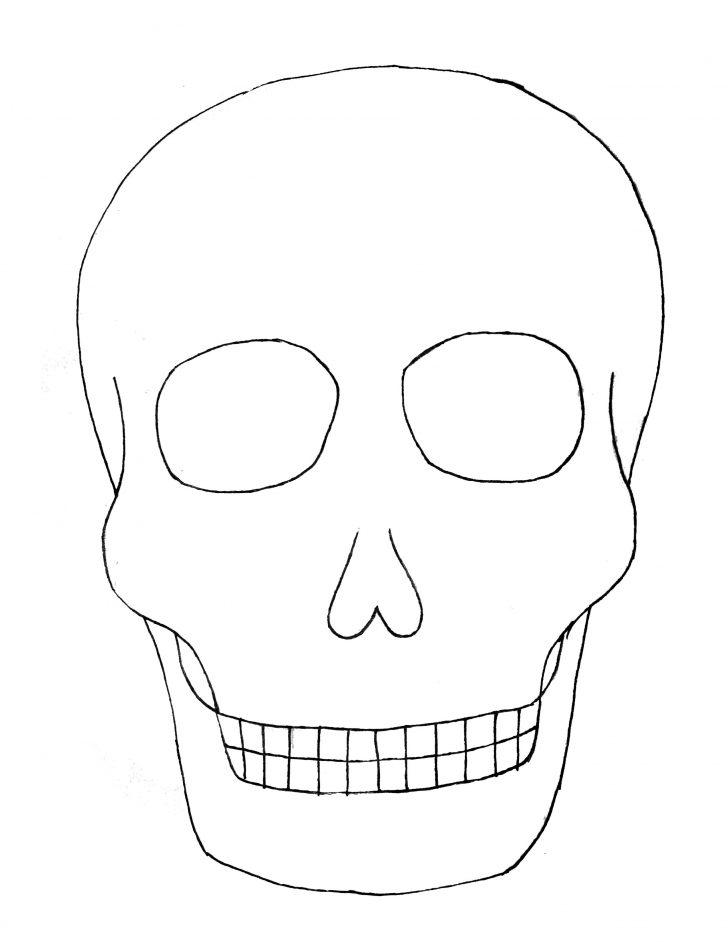 Templates : Calavera (sugar Skull) Coloring Page  Free Printable  Intended For Blank Sugar Skull Template Inside Blank Sugar Skull Template