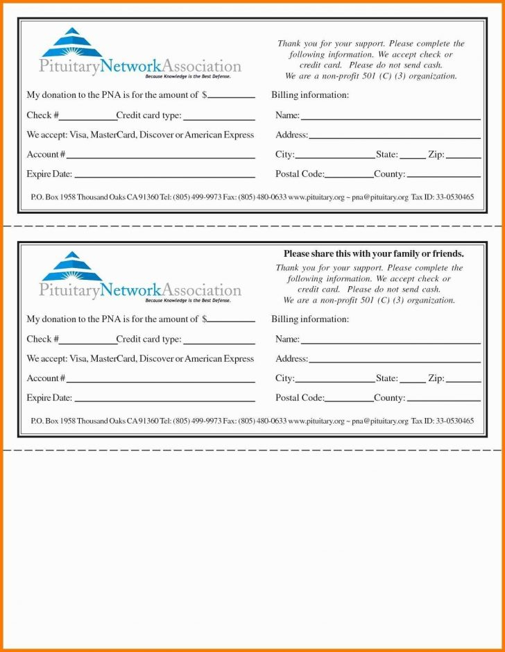 Templates: Donation Pledge Card Template Intended For Free Pledge Card Template