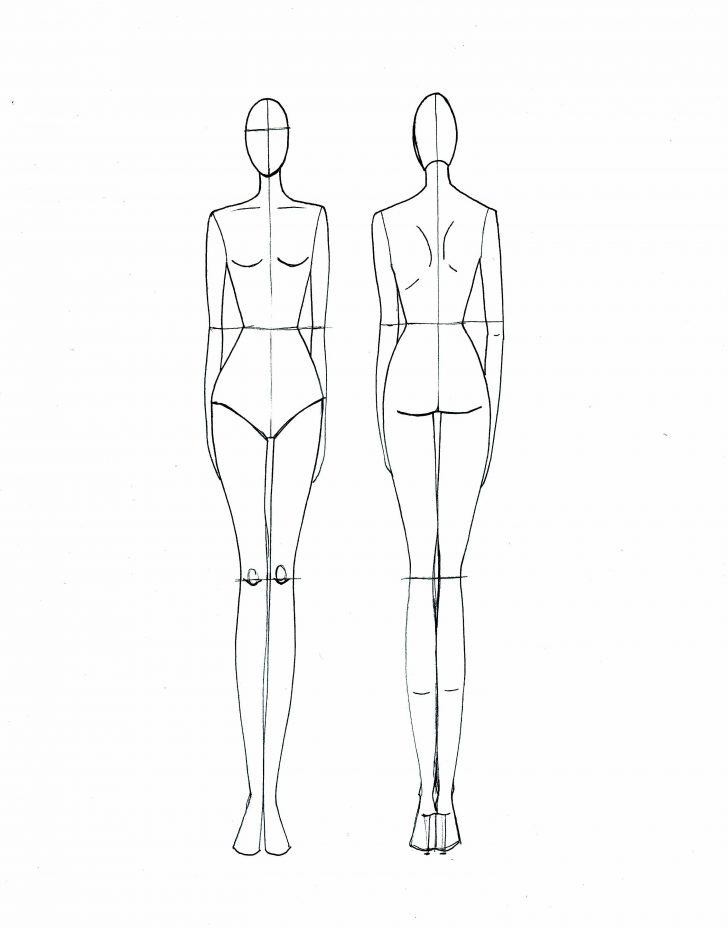 Templates : Imagem De Sketch Por Geeta Sharma  Croquis De Moda In  Within Blank Model Sketch Template Throughout Blank Model Sketch Template