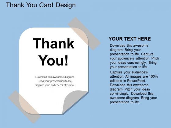 Thank You Card Design Powerpoint Template - PowerPoint Templates Throughout Powerpoint Thank You Card Template For Powerpoint Thank You Card Template