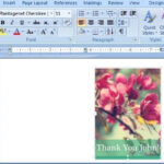 Thank you card for Word - FPPT Inside Powerpoint Thank You Card Template