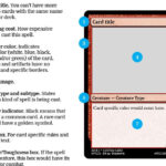 The graphic design for Magic, the Gathering card frames  by  For Magic The Gathering Card Template