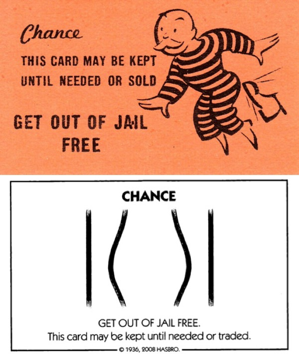 """Then & Now #11: Monopoly """"Get Out of Jail Free"""" card  Boing Boing Within Get Out Of Jail Free Card Template Within Get Out Of Jail Free Card Template"""