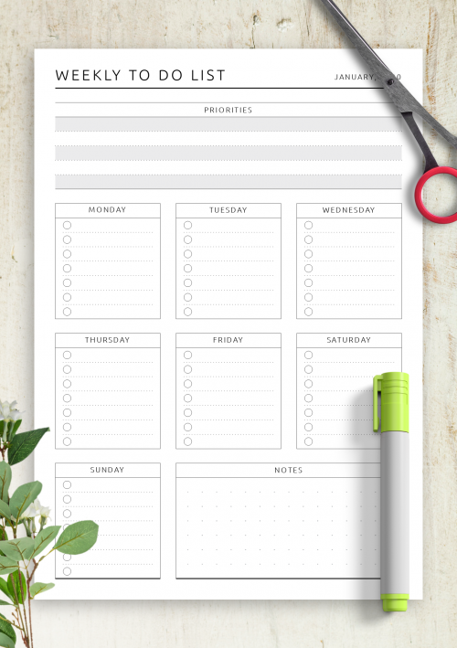 To Do List Templates - Download Task List PDF Intended For Blank To Do List Template For Blank To Do List Template