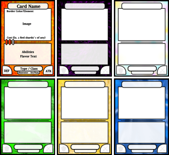 Trading Card Game Template - FREE DOWNLOAD For Trading Cards Templates Free Download Pertaining To Trading Cards Templates Free Download
