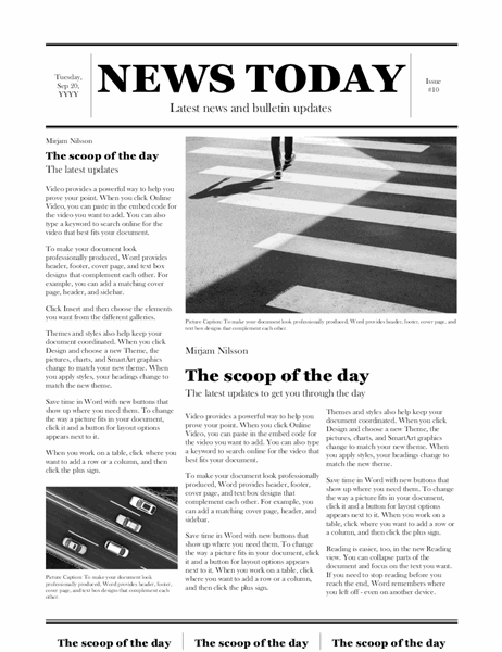 Traditional newspaper Throughout Blank Newspaper Template For Word With Regard To Blank Newspaper Template For Word
