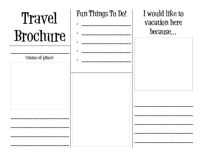 travel brochure assignment For Brochure Templates For School Project