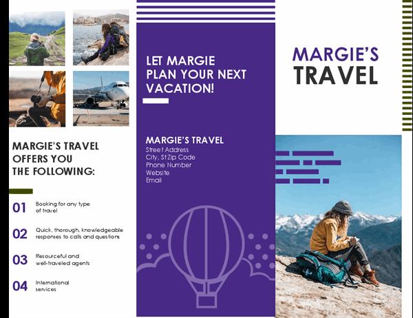 Travel brochure With Island Brochure Template Throughout Island Brochure Template