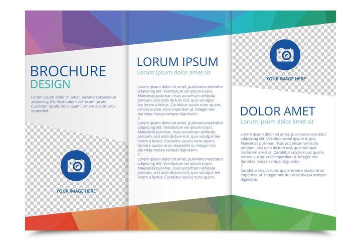 Tri Fold Brochure Vector Template - Download Free Vectors, Clipart  Regarding 3 Fold Brochure Template Free Download In 3 Fold Brochure Template Free Download