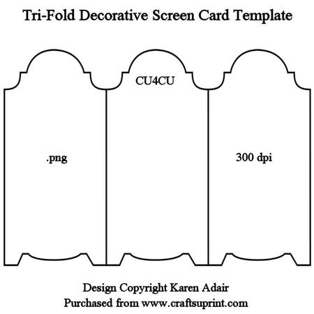 Tri-fold Screen Card Template With Fold Out Card Template Throughout Fold Out Card Template