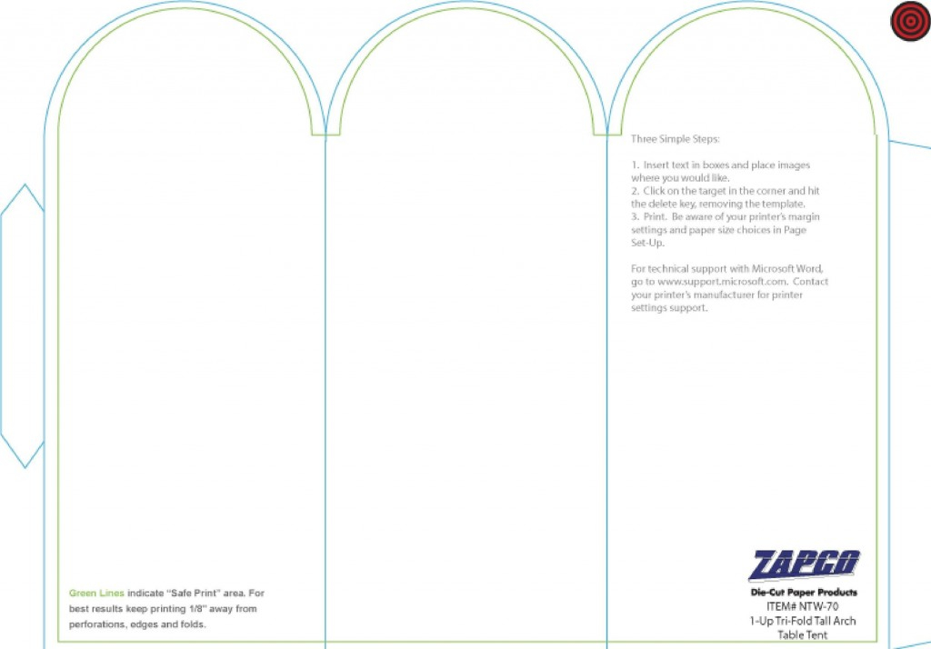 Tri Fold Table Tent Template ~ Addictionary For Table Tent Template Word Inside Table Tent Template Word