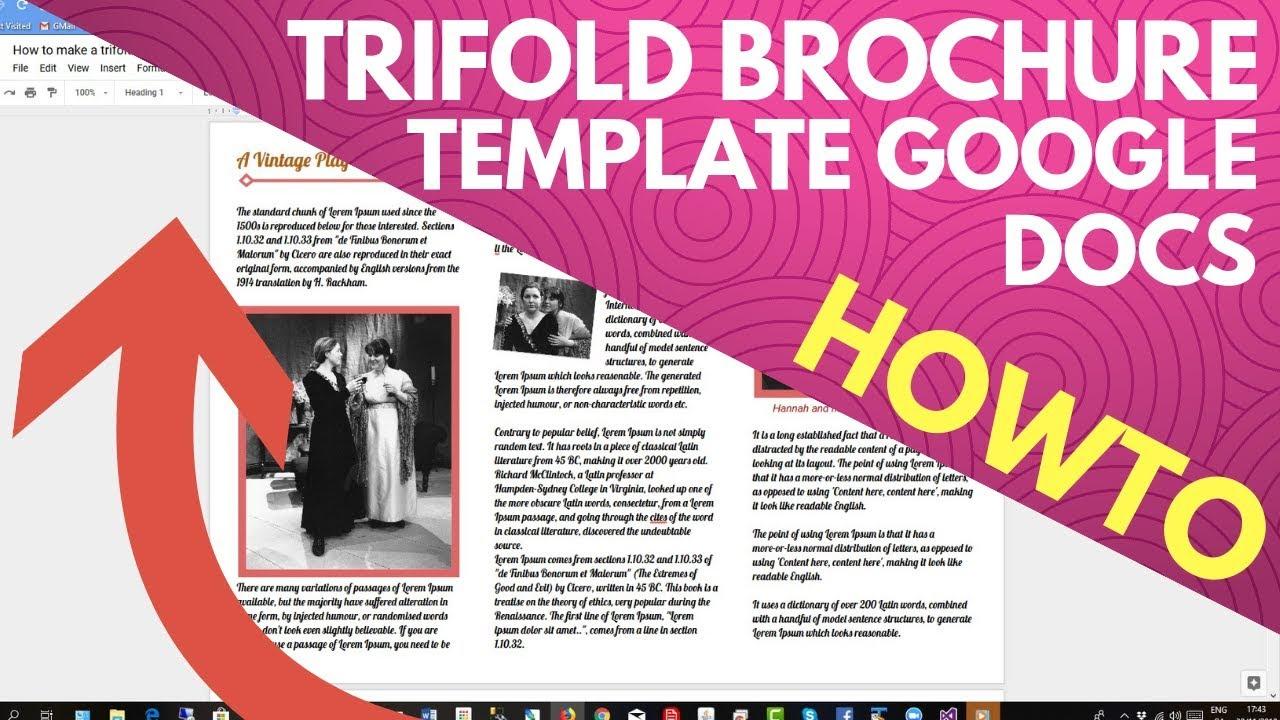 Trifold brochure template google docs - YouTube For Google Drive Brochure Templates With Regard To Google Drive Brochure Templates