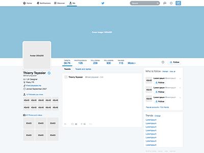 Twitter profile GUI 11 Sketch freebie - Download free resource  With Regard To Blank Twitter Profile Template Regarding Blank Twitter Profile Template