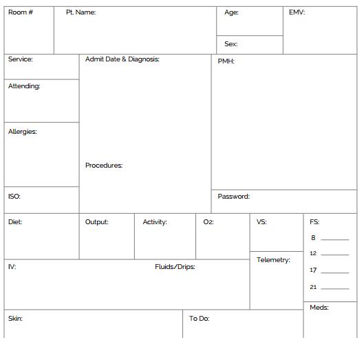 Ultimate Nursing Brain Sheet Database + Downloads  NURSING.com With Regard To Nurse Shift Report Sheet Template