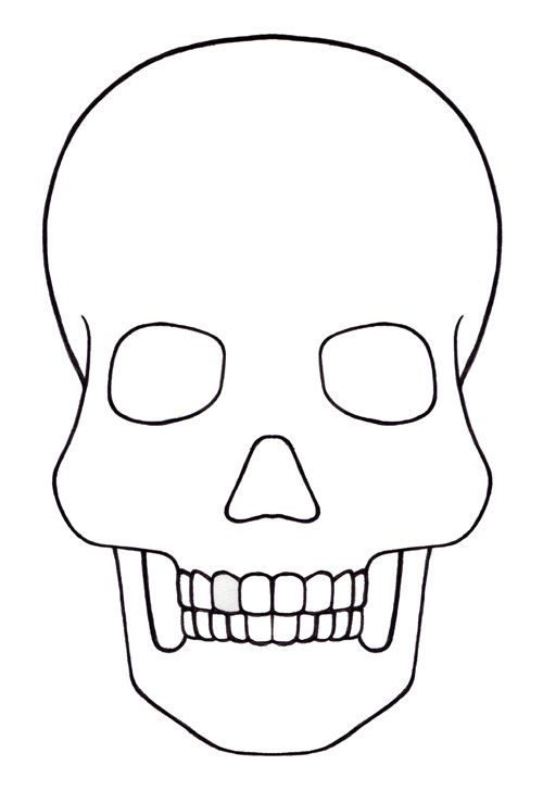 Uncategorized  marthamouse  Skull template, Sugar skull drawing  Regarding Blank Sugar Skull Template In Blank Sugar Skull Template