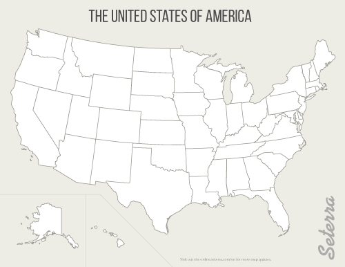 US States printable maps (pdf) In United States Map Template Blank Within United States Map Template Blank