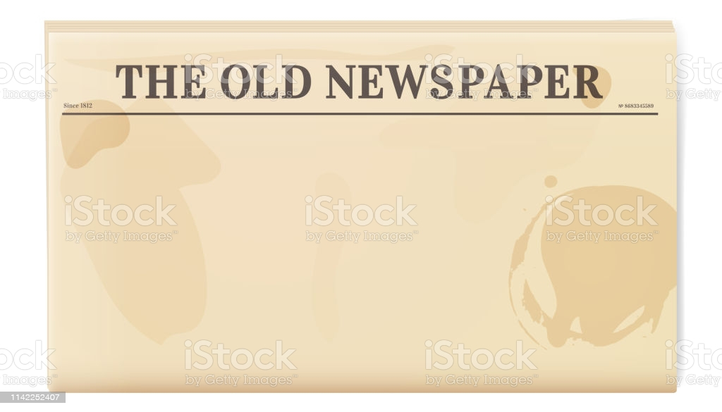 Vintage Newspaper Template Folded Cover Page Of A News Magazine Stock  Illustration - Download Image Now Pertaining To Blank Old Newspaper Template In Blank Old Newspaper Template