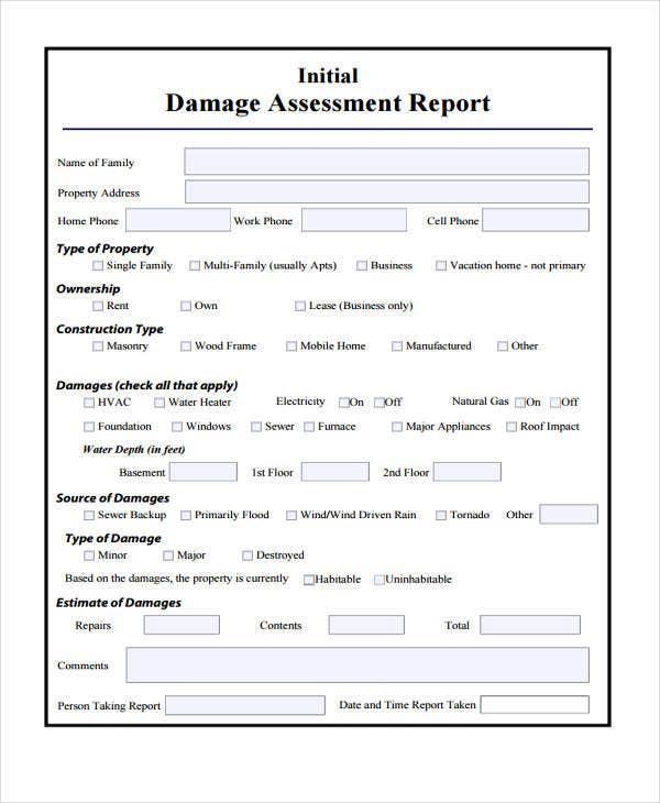 Water Damage Report Sample Inside Car Damage Report Template Regarding Car Damage Report Template