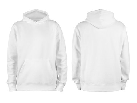 White Hoodie Mockup stock photos and royalty-free images, vectors  For Blank Black Hoodie Template