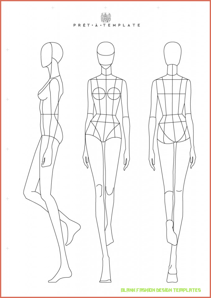 Why Blank Fashion Design Templates Had Been So Popular Till Now  Intended For Blank Model Sketch Template