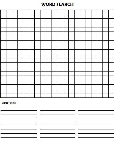 word search template free printable  Kids Activities Intended For Blank Word Search Template Free For Blank Word Search Template Free