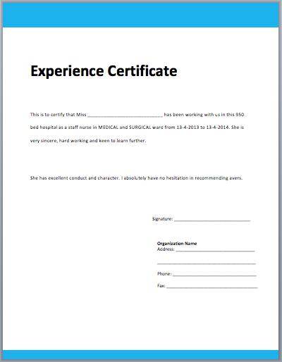 Work Experience Certificate Template - Microsoft Word Templates In Template Of Experience Certificate Throughout Template Of Experience Certificate