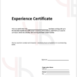 Work Experience Certificate Templates - (11 Free Templates) - Word  Pertaining To Template Of Experience Certificate