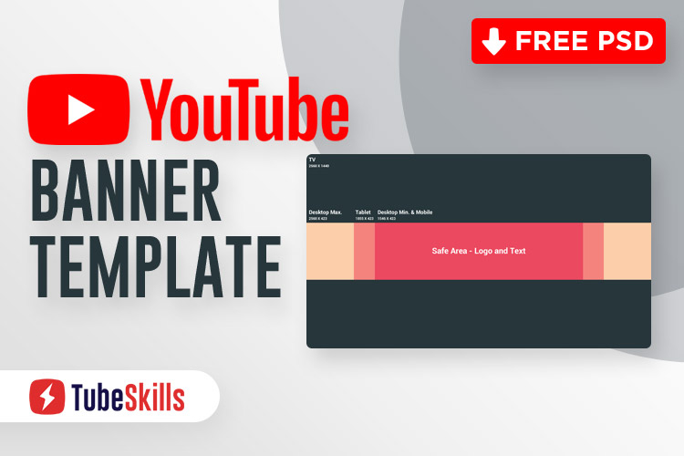 YouTube Banner Template PSD (FREE DOWNLOAD) - 11 Throughout Youtube Banner Template Gimp In Youtube Banner Template Gimp