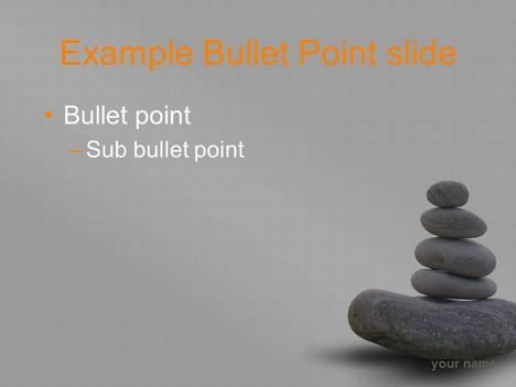Zen stones template – grey background In Presentation Zen Powerpoint Templates With Presentation Zen Powerpoint Templates