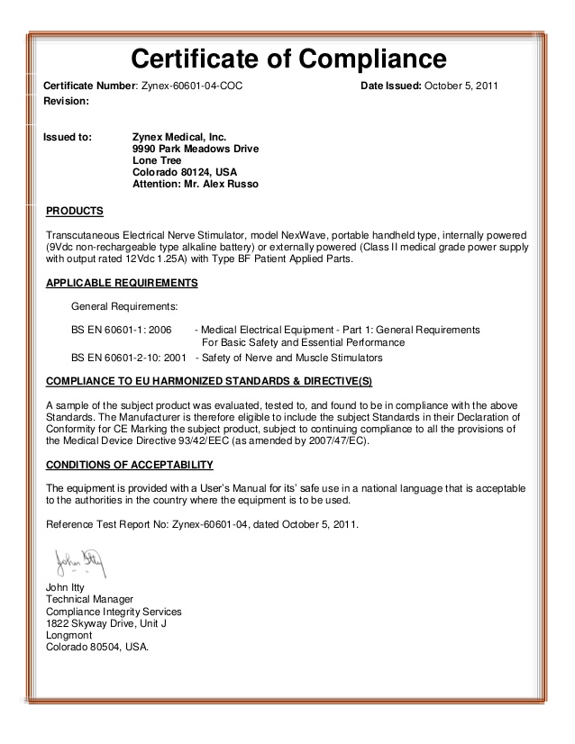 ZMPCZM11.11.11 Certificate of compliance With Regard To Certificate Of Compliance Template